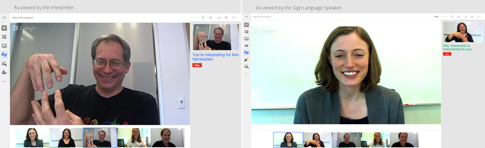 google hangout sign language