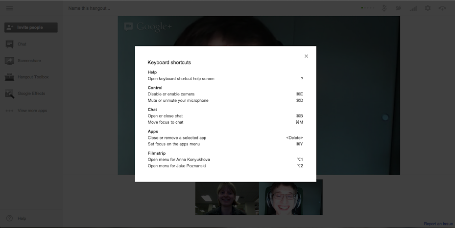 google hangout_with_shortcuts