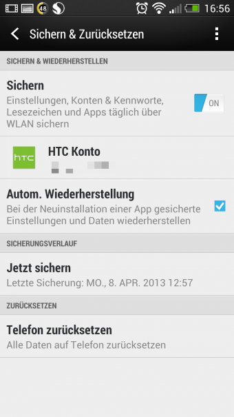 HTC One Test Screenshots Sense 9
