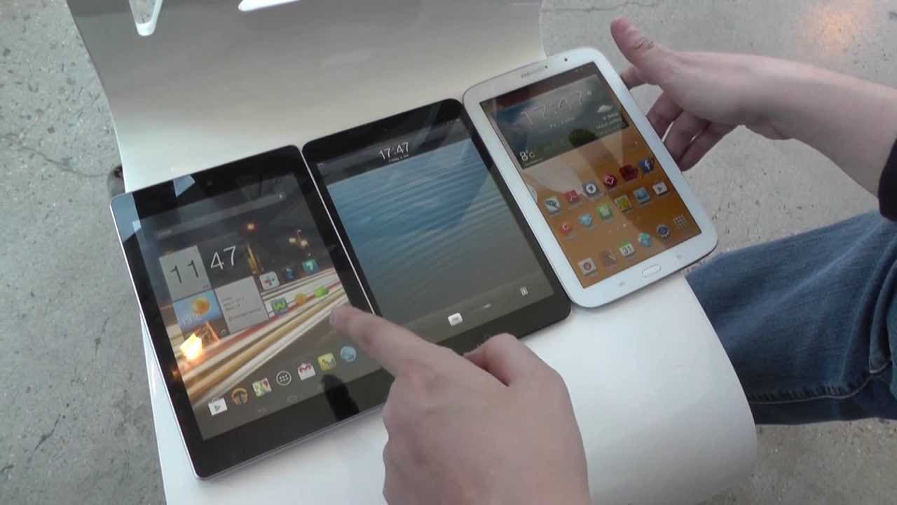 Acer Iconia A1 vs Apple iPad mini vs Samsung Galaxy Note 8