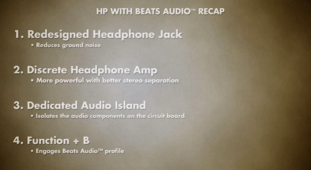 HP beats audio