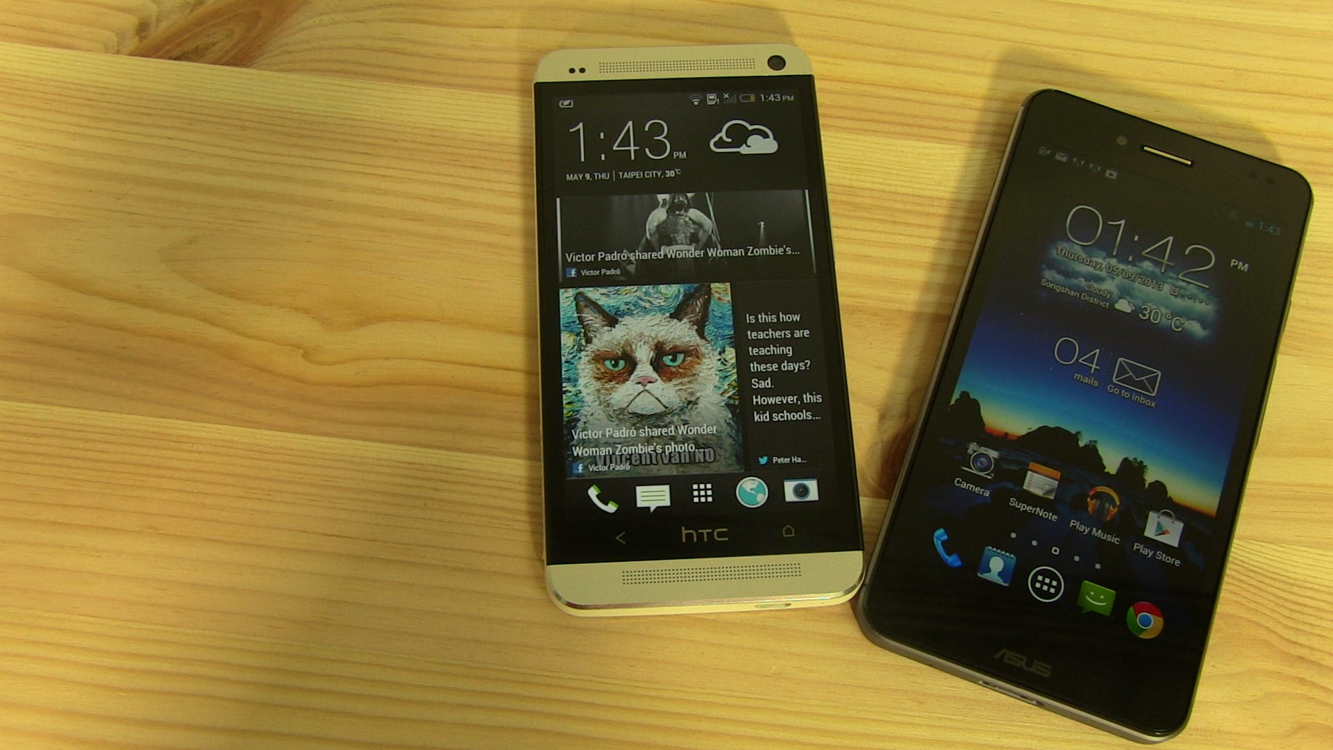 HTC One vs ASUS Padfone Infinity 01