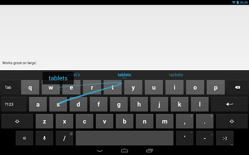 Google Keyboard Swipe