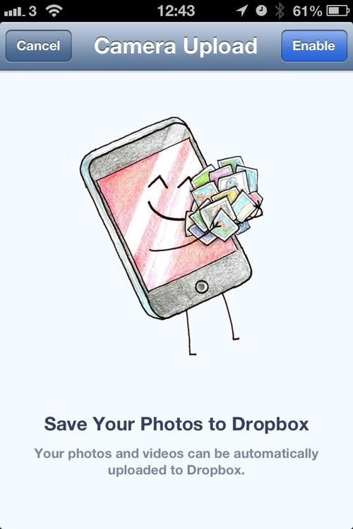 Dropbox photo upload