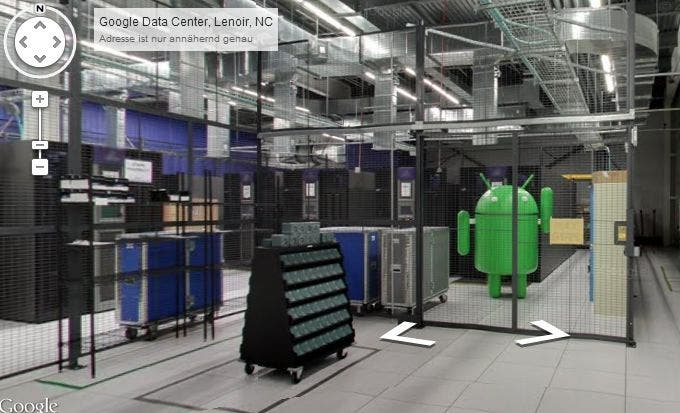 google data center android