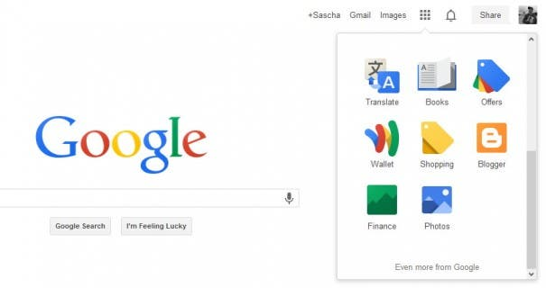 New Google Interface 1