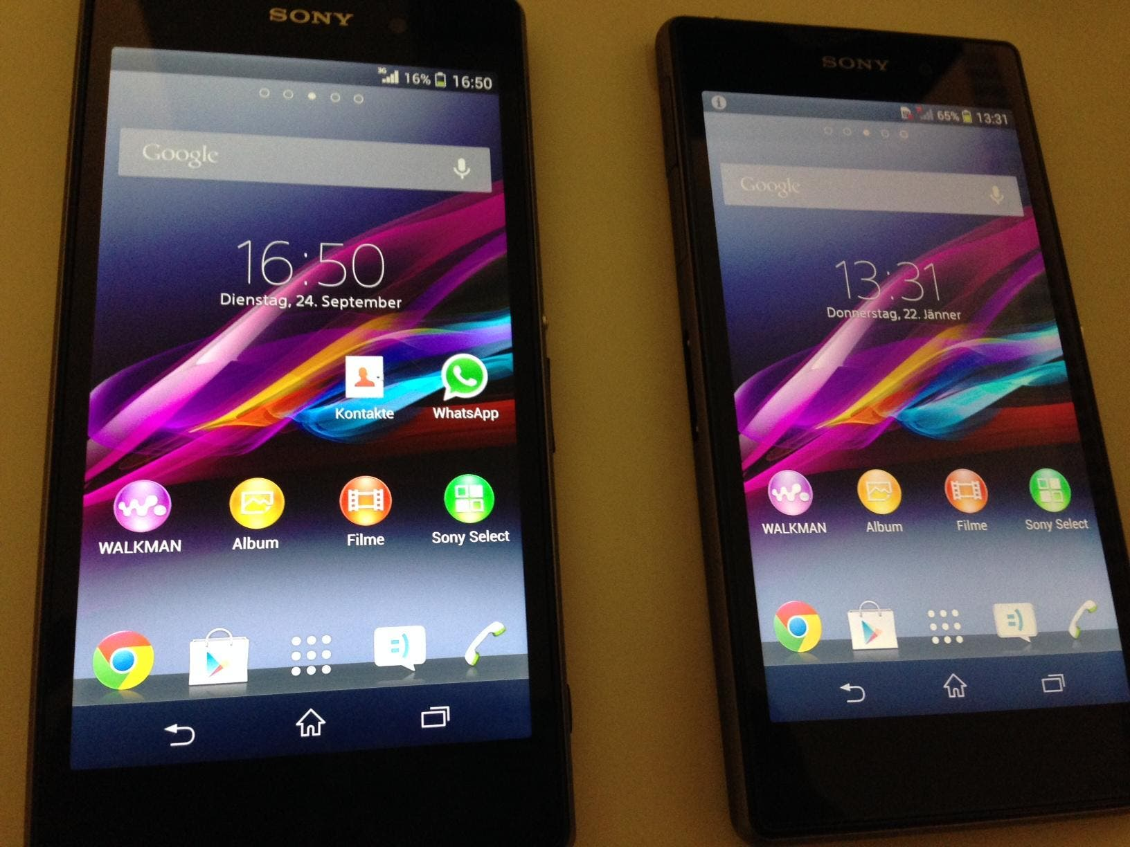 Display-Lotterie beim Sony Xperia Z1?