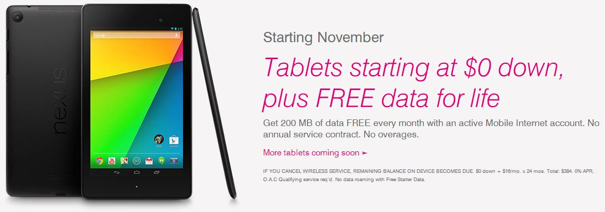 T-Mobile USA: 200 MB Gratis-LTE pro Monat für alle Tablet-User