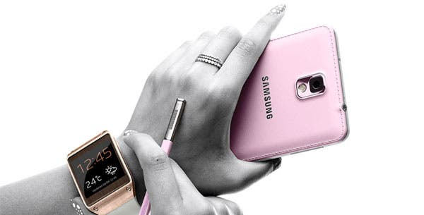 Galaxy-Note-3-und-Galaxy-Gear-pink