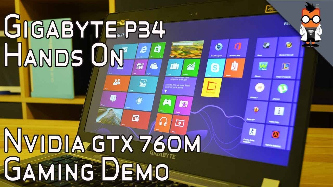 Gigabyte P34G Gaming Notebook mit NVIDIA GTX 760M im Hands-on-Video