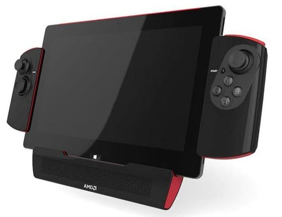 AMD kündigt Windows 8.1 Gaming-Tablet mit Controller-Dock an