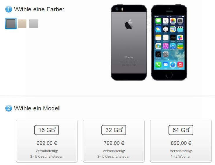 iphone 5s 3-5tage