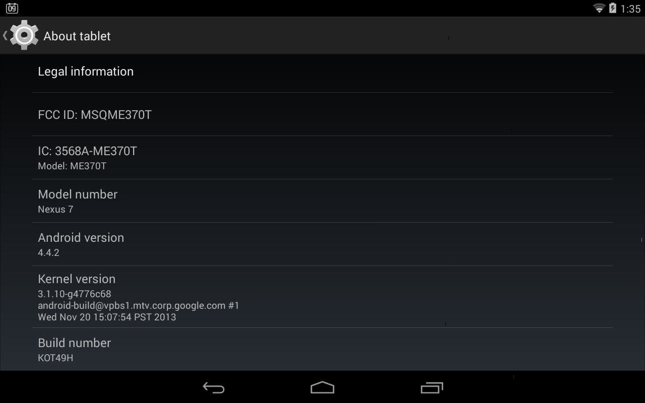 Android 4.4.2 Kitkat Tablet