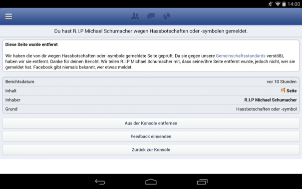 Facebook Schumacher
