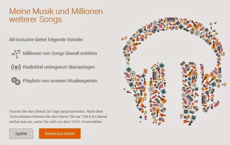Google Play Music All Inclusive