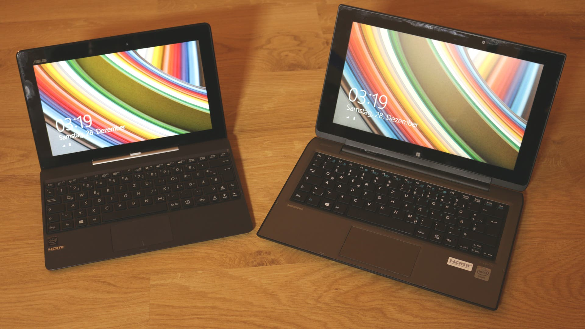ASUS Transformer Book T100TA vs. Medion Akoya P2211T im Benchmark-Vergleich – Video