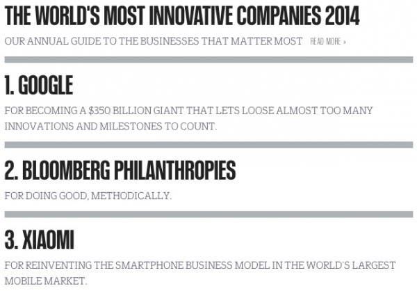 Most Innovative Companies Top 3