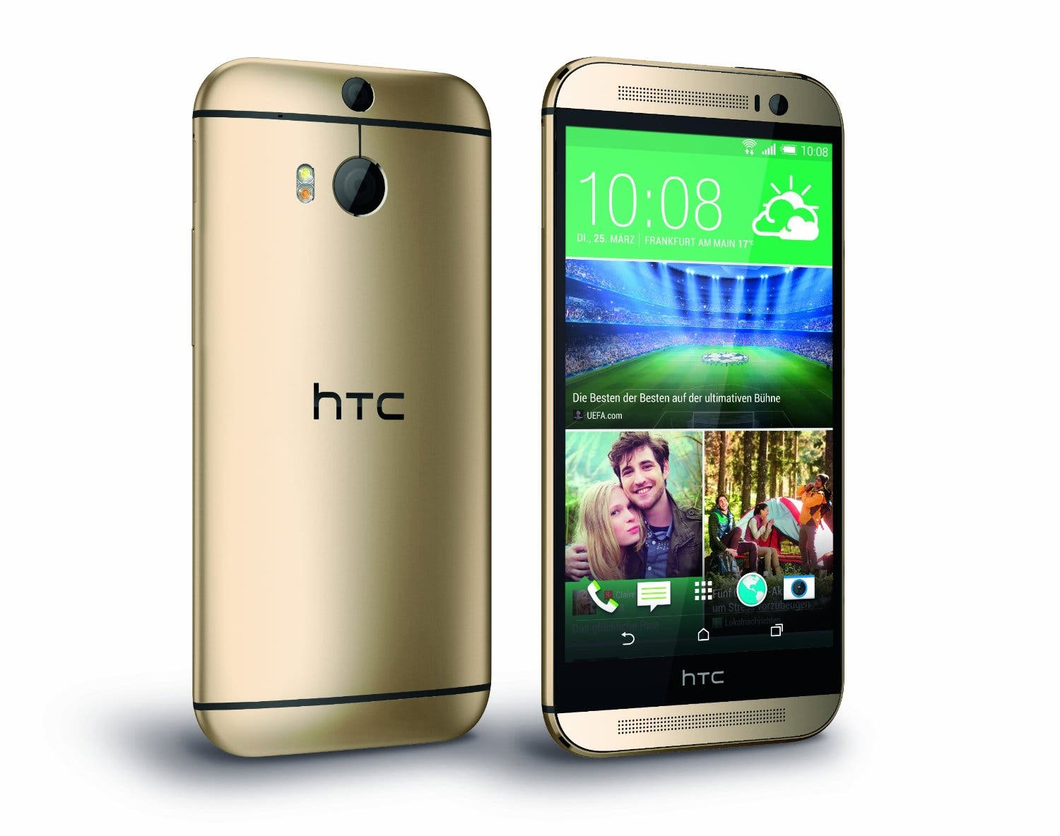 htc one m8 in amber gold wohl ab 15 april in. Black Bedroom Furniture Sets. Home Design Ideas