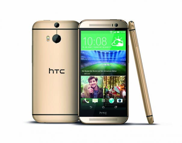 htc one m8 amber gold 2