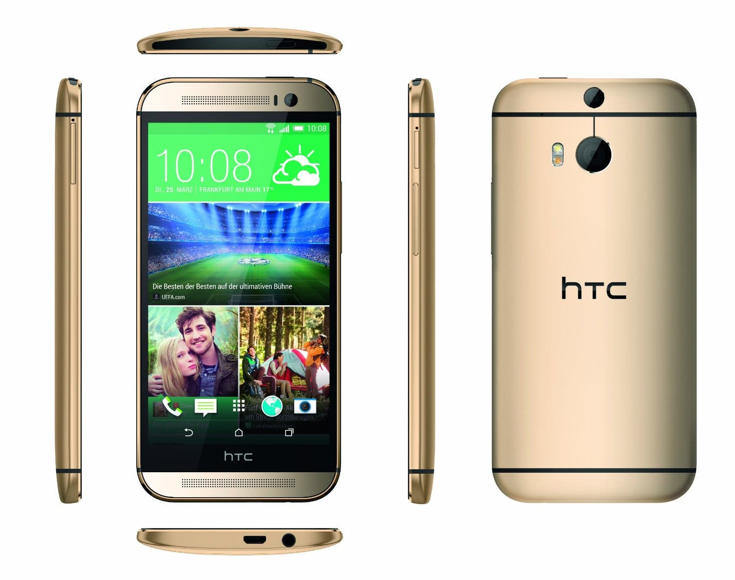 HTC One (M8) in Amber Gold wohl ab 15. April in ...