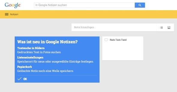 Google Notizen