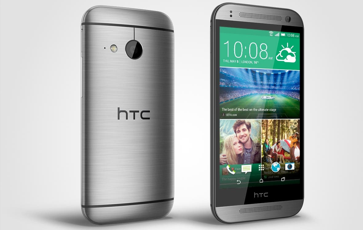 HTC One mini 2 grey front