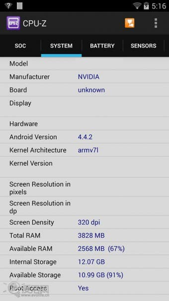Nvidia Tegra K1 Shield Benchmarks 0