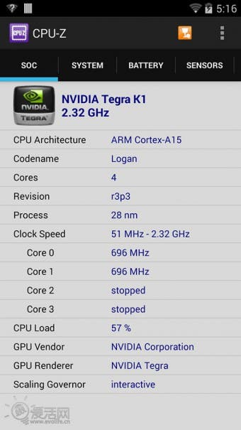 Nvidia Tegra K1 Shield Benchmarks 1