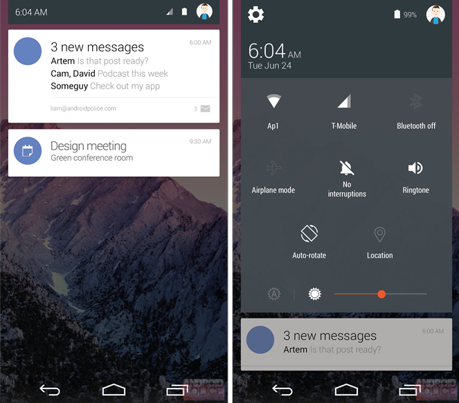 Android L Quick Settings 1