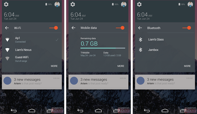 Android L Quick Settings 2