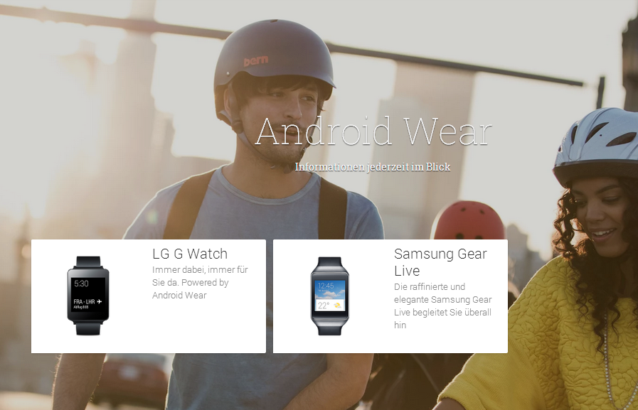 Android Wear bei Google Play