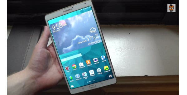 Samsung Galaxy Tab S 8.4 Super AMOLED Tablet im Hands on-Video