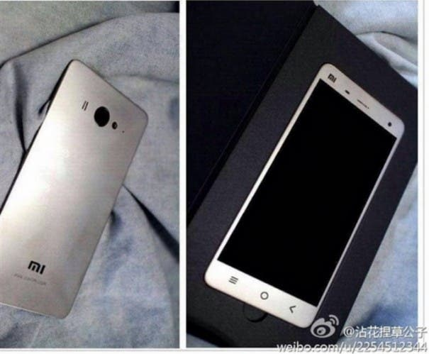 Xiaomi Mi4 front and back
