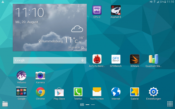 Samsung Galaxy Tab S 10.5 Interface 1