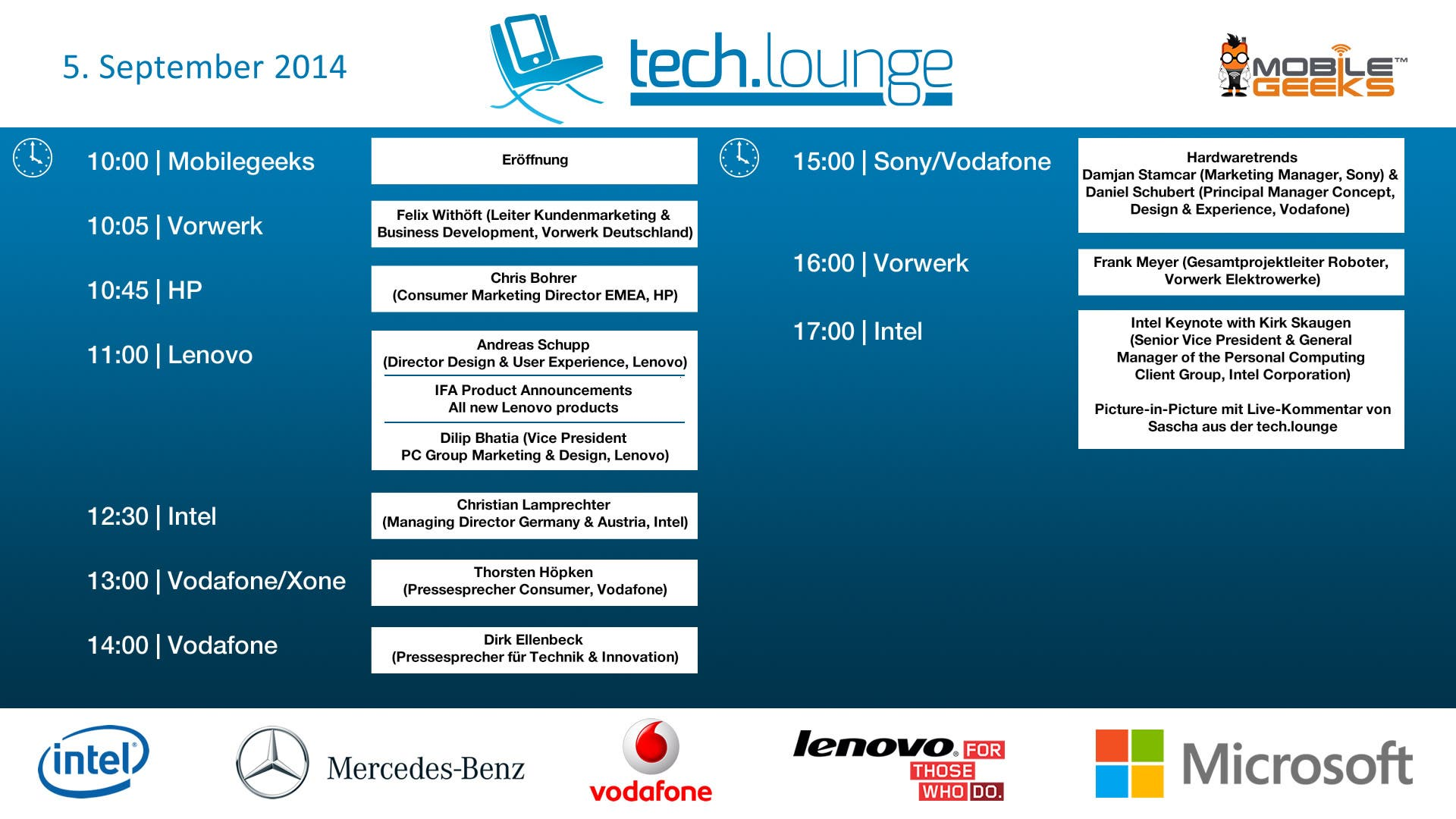 CeBIT 2014 Timetable - Day 1 v6