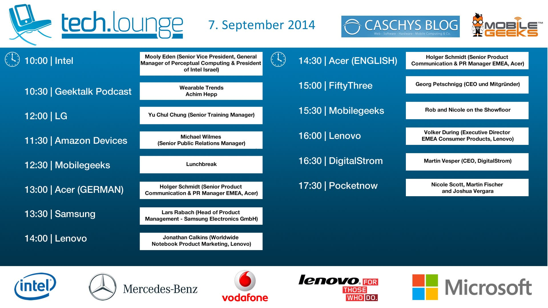 CeBIT 2014 Timetable - Day 3