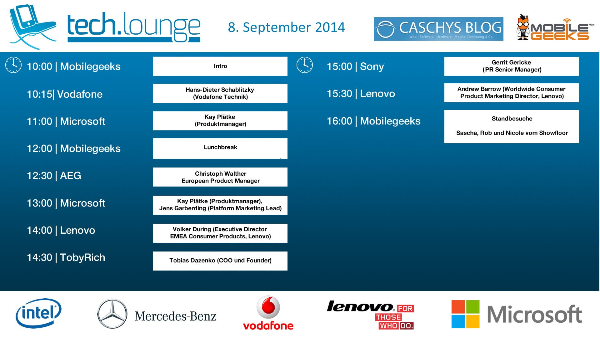 CeBIT 2014 Timetable - Day 4 - 2