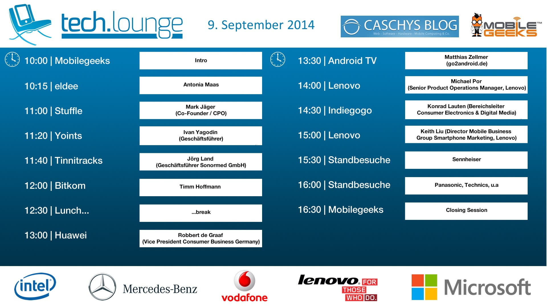 CeBIT 2014 Timetable - Day 5 - 2