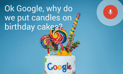 Google Birthday Cake