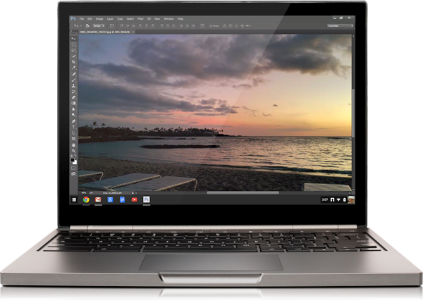 chromebook pixel with photoshop