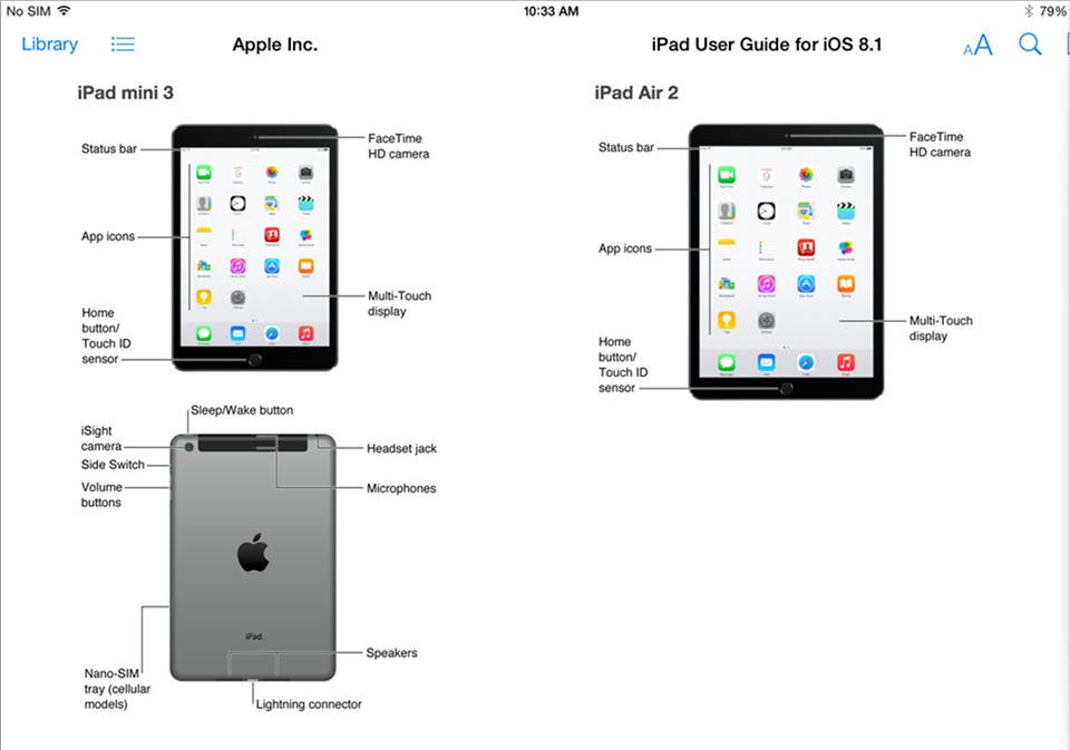 ipad air 2 ipad mini 3 user guide leak