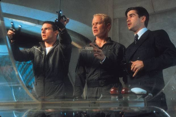 Tom Cruise, Neal McDonough und Colin Farrell im Film Minority Report (Picture: Twentieth Century Fox)
