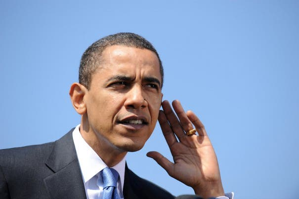 U.S. President Barack Obama speaks on AIG  bonuses at White House