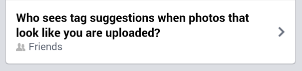 Facebook Tag Suggestions
