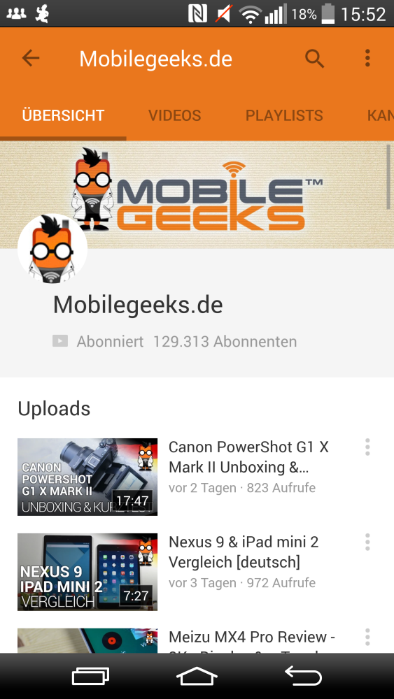 YouTube Material Design Mobilegeeks