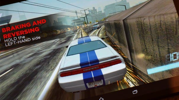 Need for Speed auf dem Xperia Z3 Tablet Compact