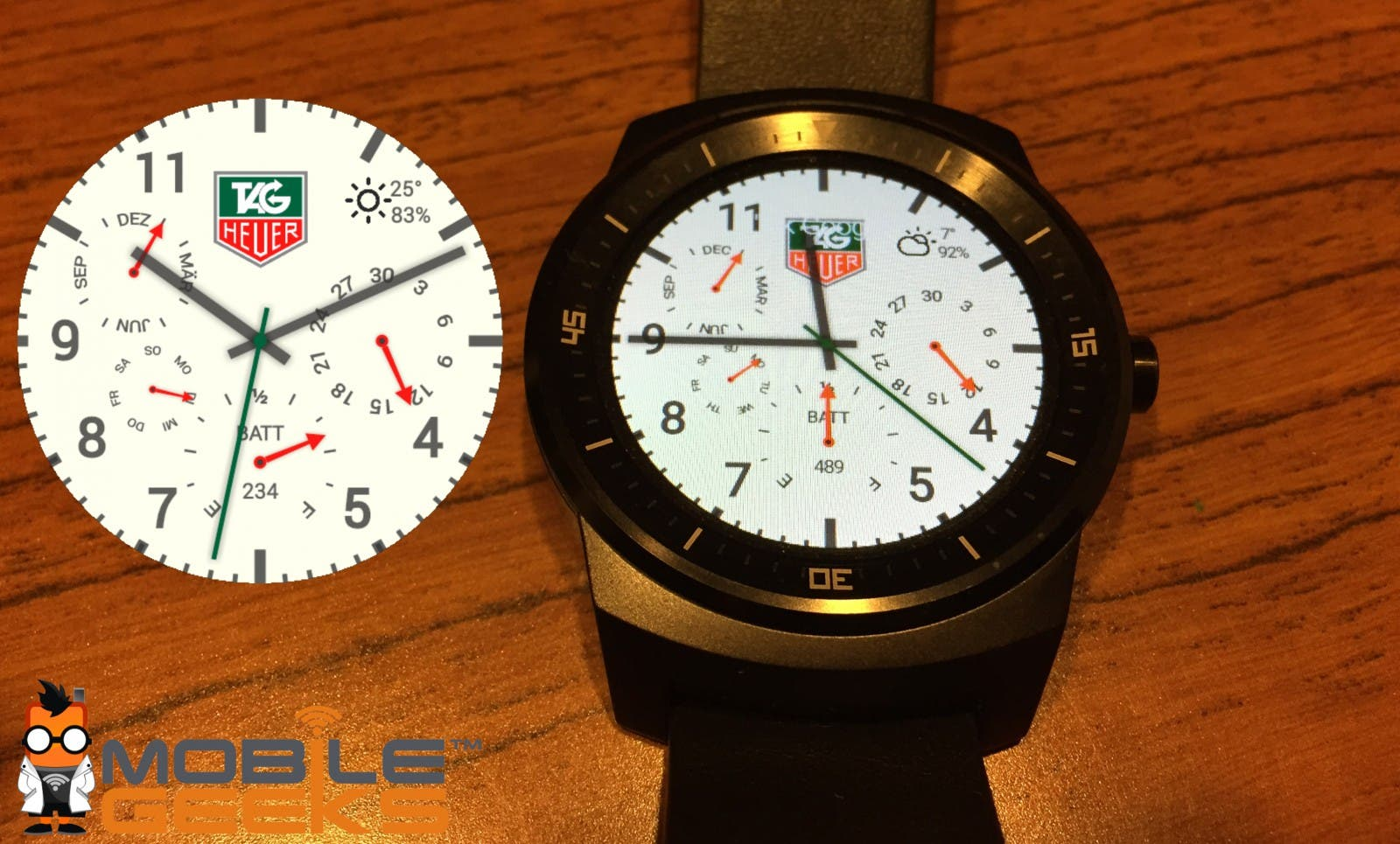 Die schoensten Watchfaces fuer runde Android Wear