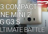 Smartphones unter 5 Zoll – Z3 Compact vs G3 S vs One Mini 2 [English]