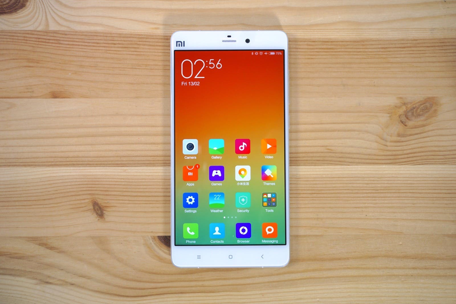 Xiaomi Mi Note Display Homescreen