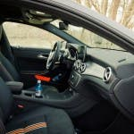 Platzangebot Vodersitze im 2015 Mercedes-Benz CLA 250 4MATIC Shooting Brake OrangeArt Edition